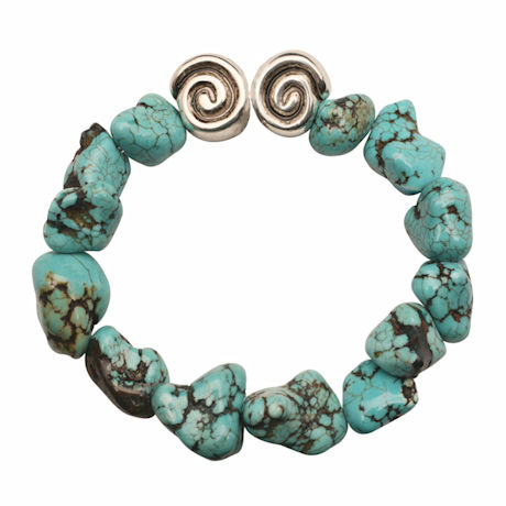 Howlite And Swirl Bead Bracelets