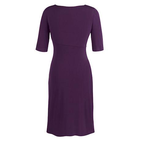 Solid Sarong Dress