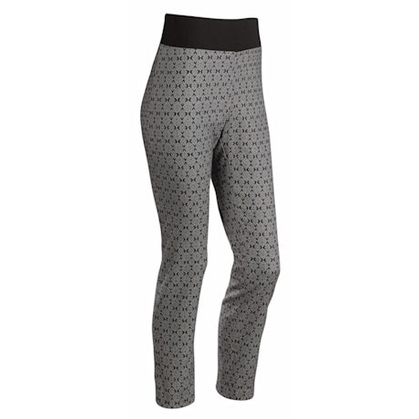 Black/White Stretch Support Pant