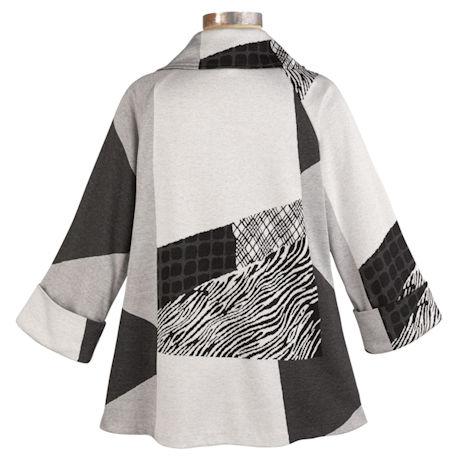 Puzzle Print Knit Jacket