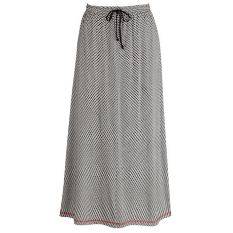 Positive Negative Stripe Skirt
