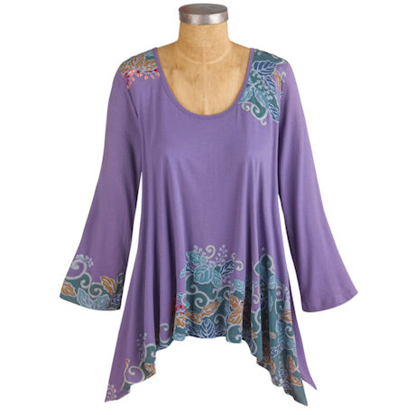 California Lilac Knit Tunic Top