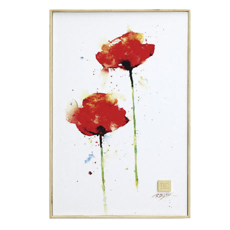 Watercolor Florals Wall Art - Poppies