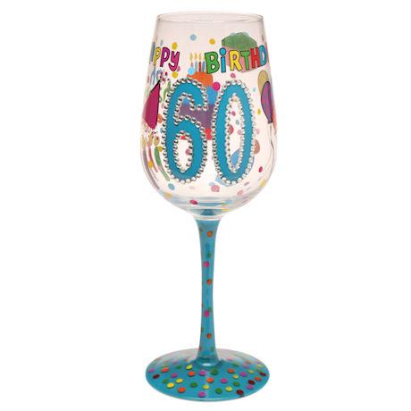 Milestone Birthday Wine Glasses
