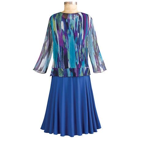 Oceana Blue Tank Dress With Jacket