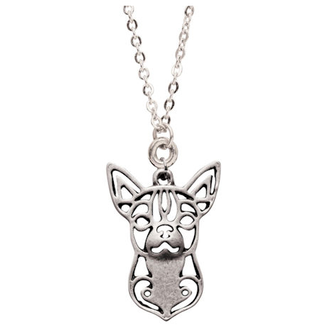 Abstract Dog Head-Shot Necklaces