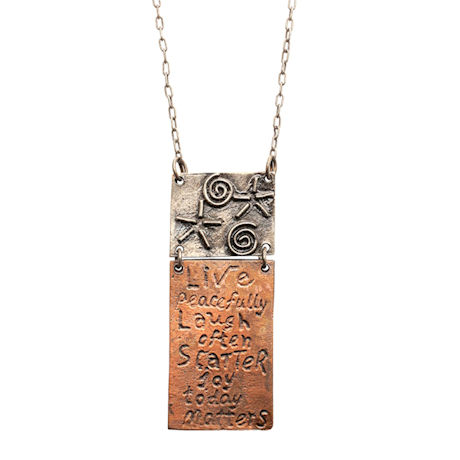 Live Peacefully Necklace