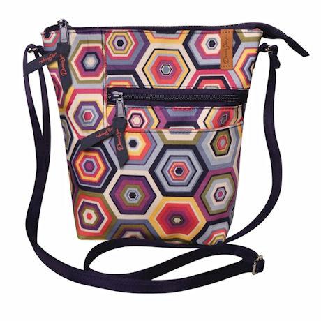 Purple Prisms Crossbody Bag