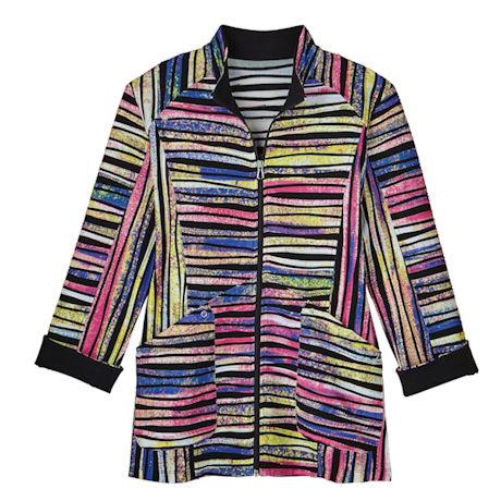 Peppermint Stripe Stretch Jacket