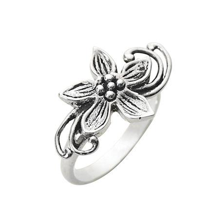 Flower Dancer Sterling Ring