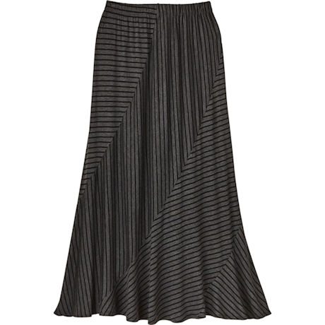 Charcoal Stripe Maxi Skirt