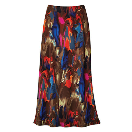 Brushstrokes Maxi Skirt