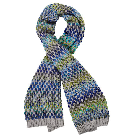 Sweater-Knit Space-Dyed Scarf