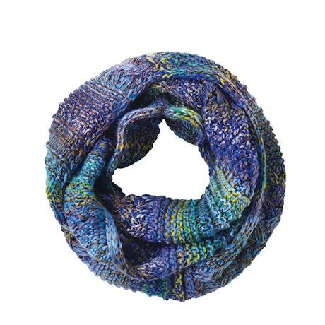 Mixed-Stitch Sparkly Infinity Scarf