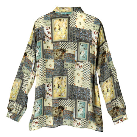 Smokey Pastel Patchwork Big Shirt