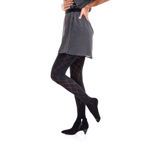 Boot Foot Patterned Tights