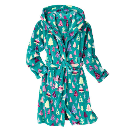 Magical Forest Hooded Fleece Robe