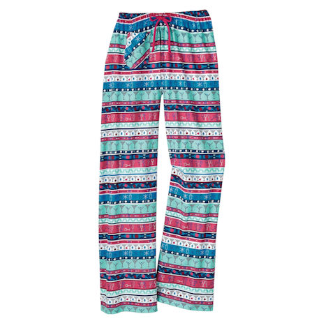 Winter Whimsy Lounge Pants - Be Merry
