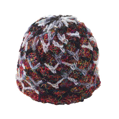 Recycled Silk Ruby-Red Accessories - Beanie