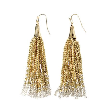 Beaded Tassels Earrings