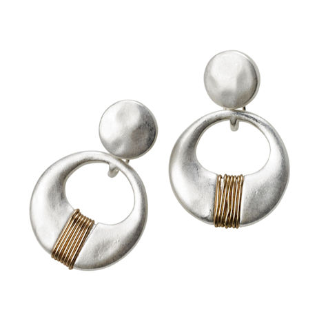Silver & Gold Post Earrings