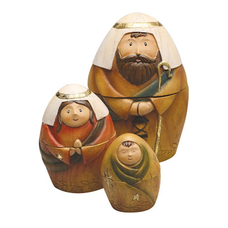 Nativity Scene Nesting Dolls Set