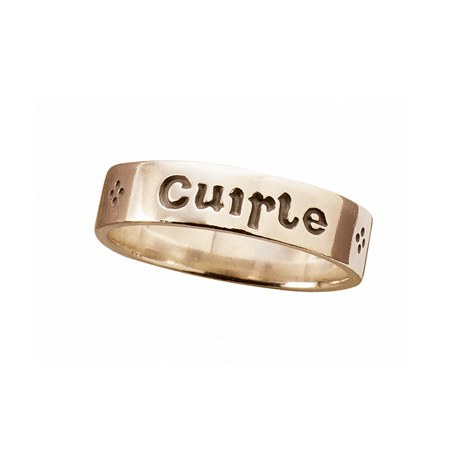 Language Of Love Ring - Gaelic - 14K Gold
