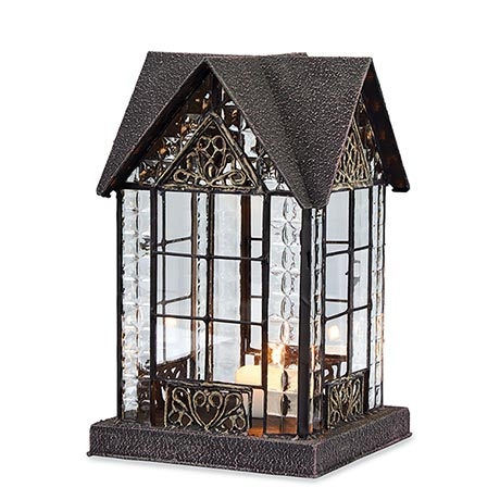 Candle Lantern Architectural Design in Metal Frame - Devonshire