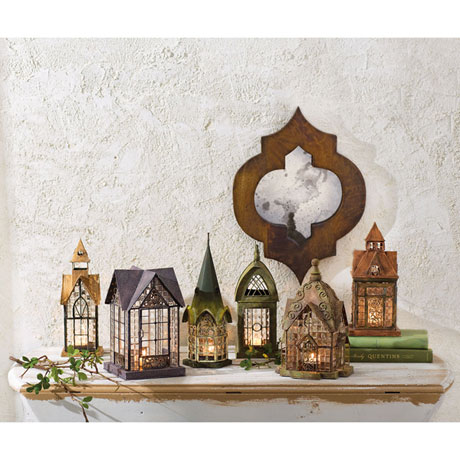 Candle Lantern Architectural Design in Metal Frame - Pickford