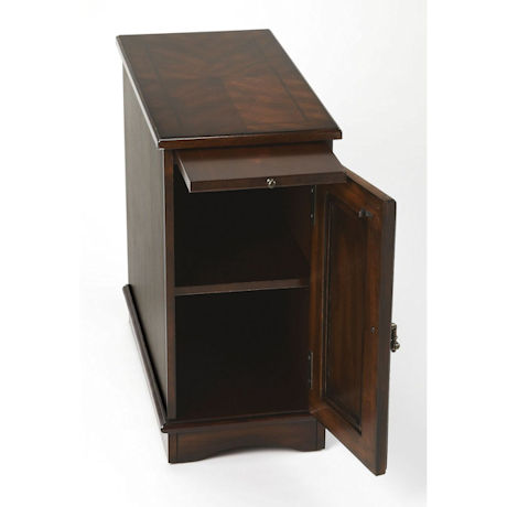 Cherry Chairside Storage Table