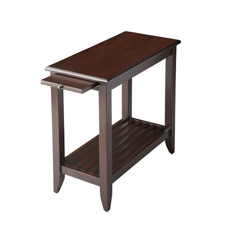 Merlot Slatted Side Table