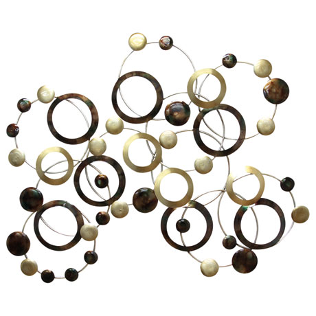 Multi-Colored Geometric Circles Wall Sculpture