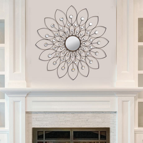 Decorative Flower Mirror