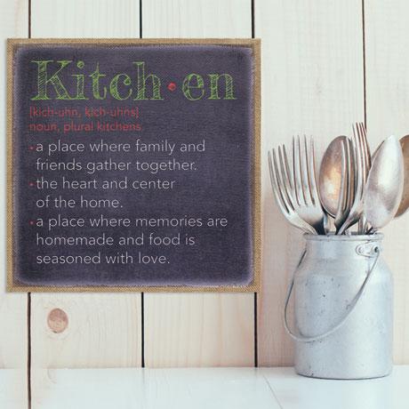 Kitchen Burlap Wall Art