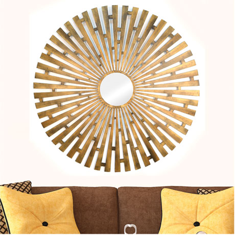 Gold Motif Wall Mirror