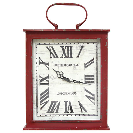 Vintage-Red Wall Clock
