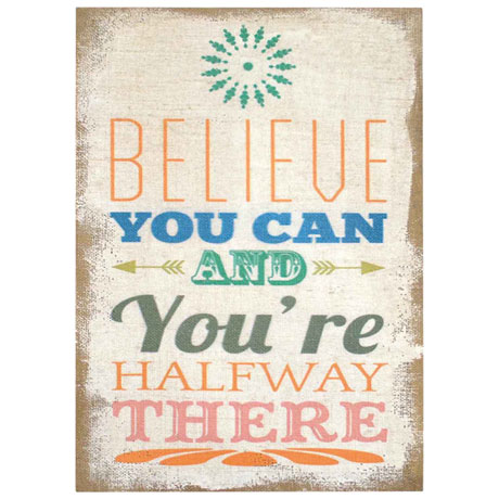 Believe Typography Burlap Wall Décor