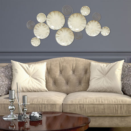 Ivory Plates Wall Décor