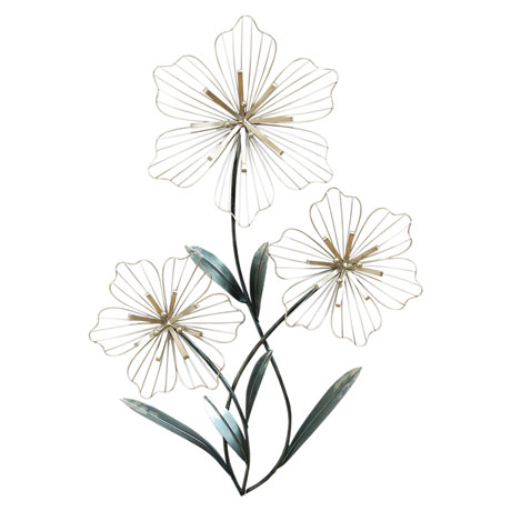 Tri-Flower Wall Art
