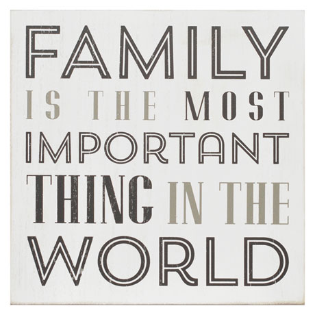 Family Is The Most Important Box Wall Art