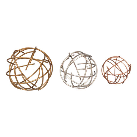 Sphere Table Top Décor - Set of Three