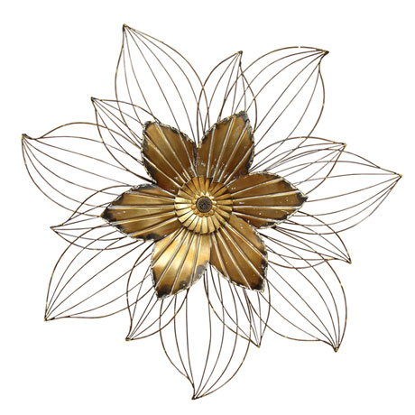 Bronze Flower Wall Décor