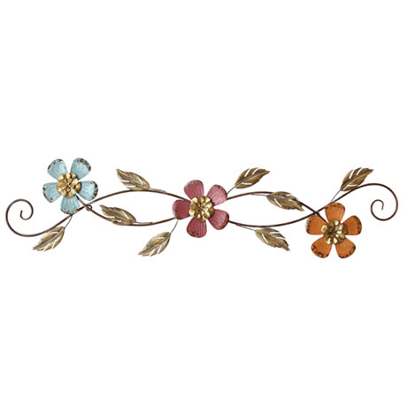 Floral Scroll Wall Décor
