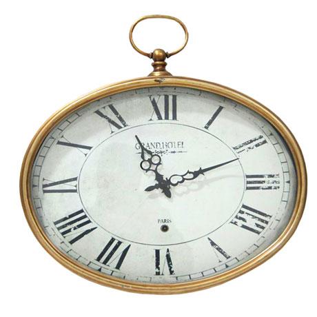 Golden Oval Wall Clock