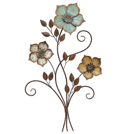 Tri-color Flower Wall Décor