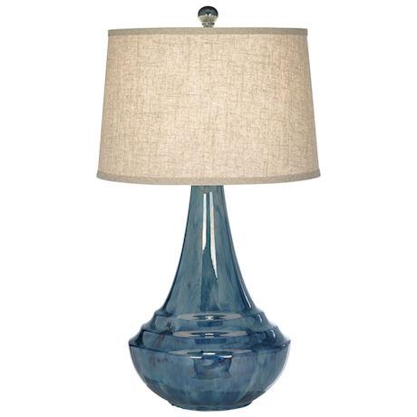 Aquamarine Ceramic Table Lamp