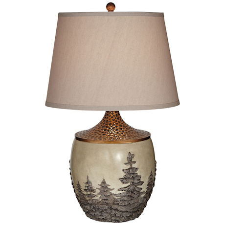 Rustic Trees Table Lamp