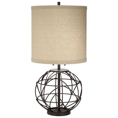Twisted Globe Table Lamp