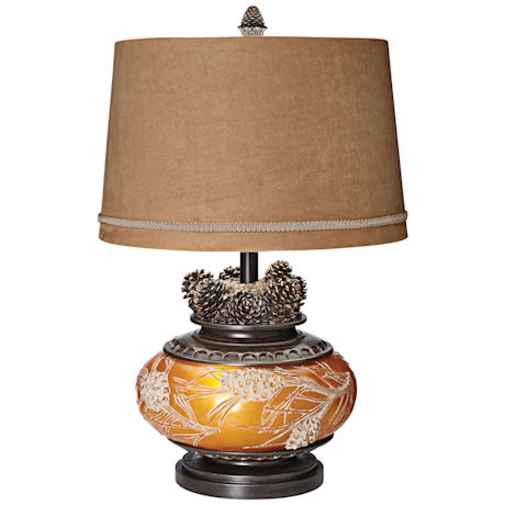 Woodland Pinecone Table Lamp