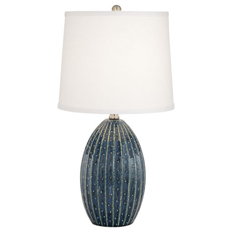 Blue Dot Ceramic Table Lamp